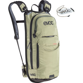 EVOC Stage Mochila Technical Performance 6l + Bolsa Hidratación 2l, light olive